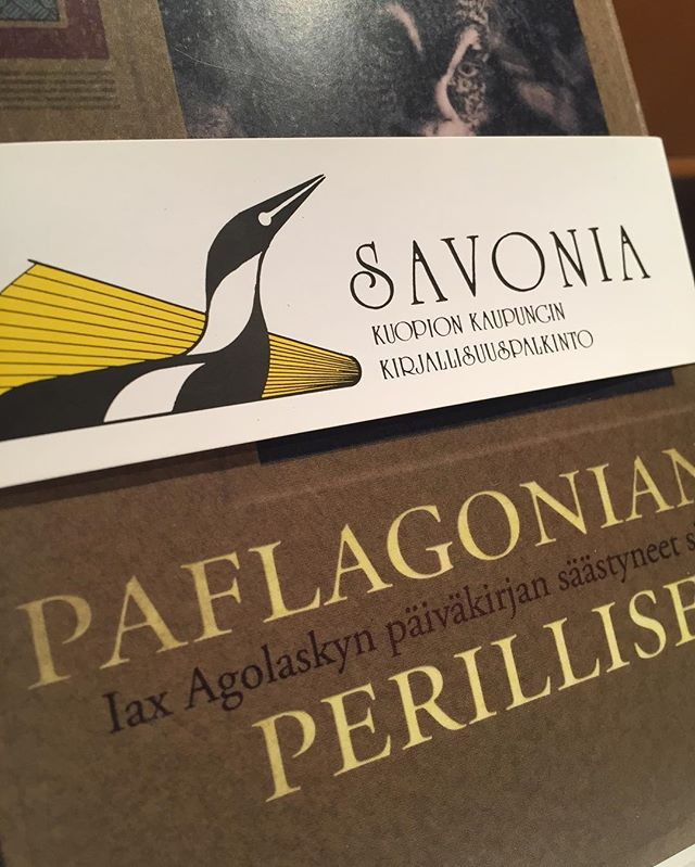 Paflagonian perilliset Savonia 2017 -ehdokkaana kunnioitettavassa seurassa. Kiitos, Kuopio, Savonia-raati ja Kirjakantti, oli ilo olla vieraana. Hyvää työtä elävän kirjallisuuden puolesta.